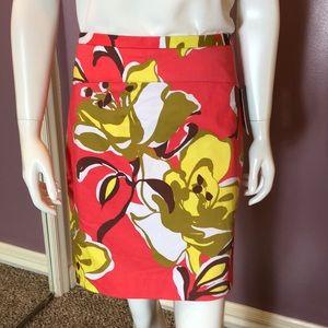 Etcetera Resort Cotton Floral Print Mini Skirt